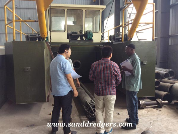 Hydraulic cutter suction dredger for Cameroon customer