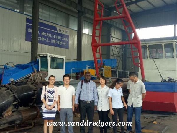 Portable dredge for Nigeria customer