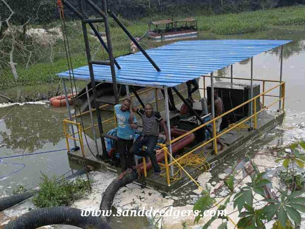 Portable sand suction dredge for Nigeria clients